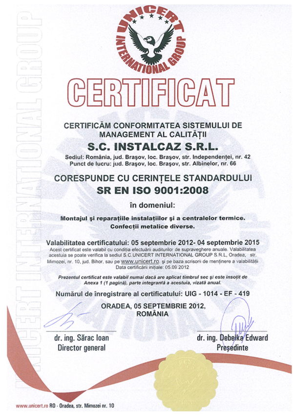 iso9001 The company